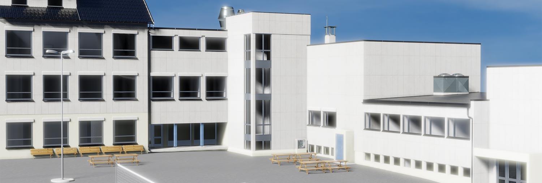 3D-modell skolebygg